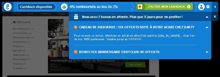parrainage ebuyclub extension alerte bons plans